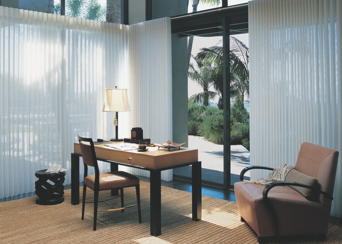 Window Treatments for Sunny Rooms Near Fletcher, North Carolina (NC) including Hunter Douglas shutters and shadings.